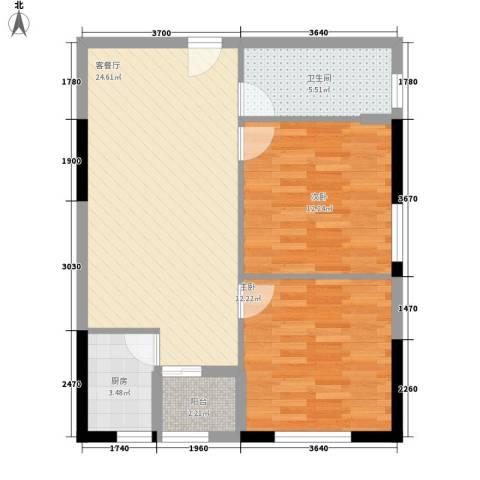 龙旺伯乐佳园2室1厅1卫1厨89.00㎡户型图