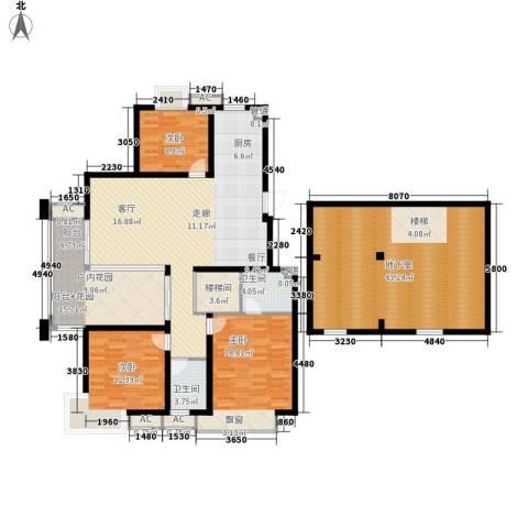栖霞瑜憬湾3室0厅2卫0厨128.00㎡户型图