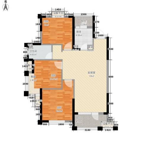 华强城3室0厅1卫1厨116.00㎡户型图
