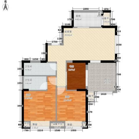 华强城3室0厅2卫1厨102.00㎡户型图