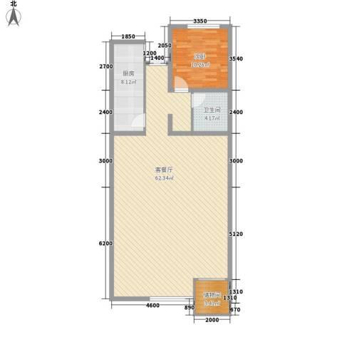 九合家园1室1厅1卫1厨122.00㎡户型图