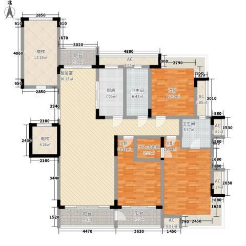 鱼尾狮3室0厅2卫1厨223.00㎡户型图