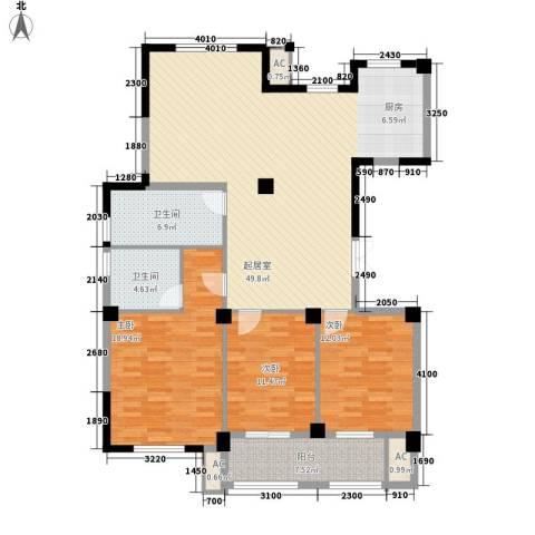 万家富3室0厅2卫0厨142.00㎡户型图