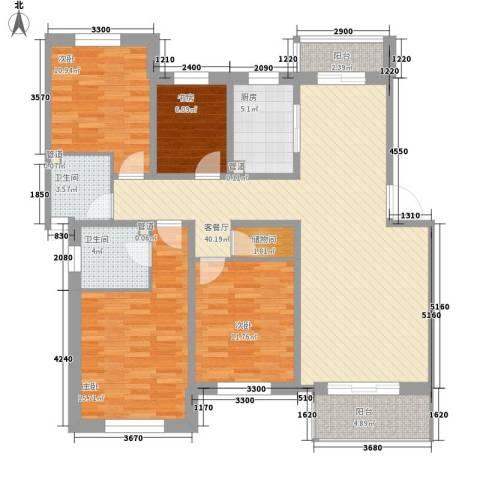 枫尚奥园4室1厅2卫1厨106.70㎡户型图