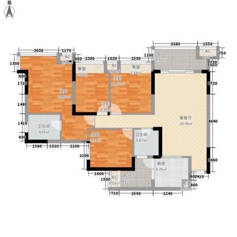 嘉宏盛世普宅4室1厅2卫1厨149.00㎡户型图