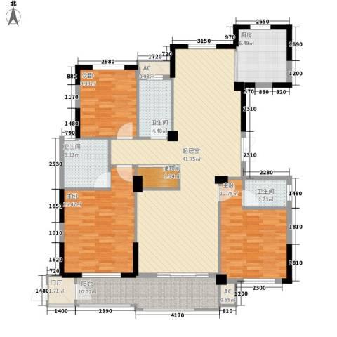 万家富3室0厅3卫1厨160.00㎡户型图