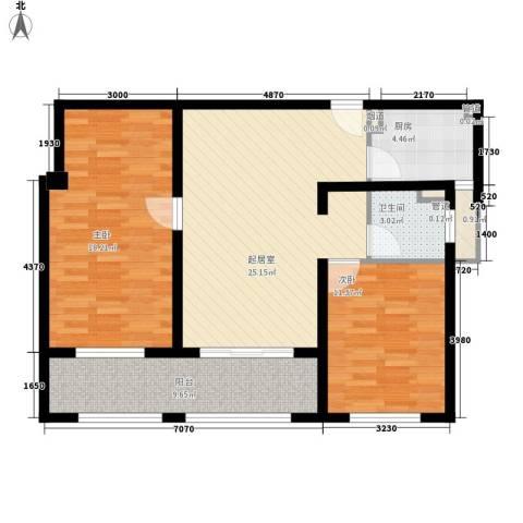 吾悦国际广场2室0厅1卫1厨105.00㎡户型图