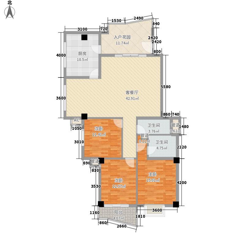福临东城133.00㎡福临东城户型图3室2厅2卫1厨户型10室
