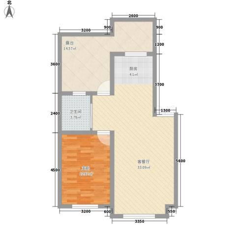 家源19531室1厅1卫0厨66.00㎡户型图