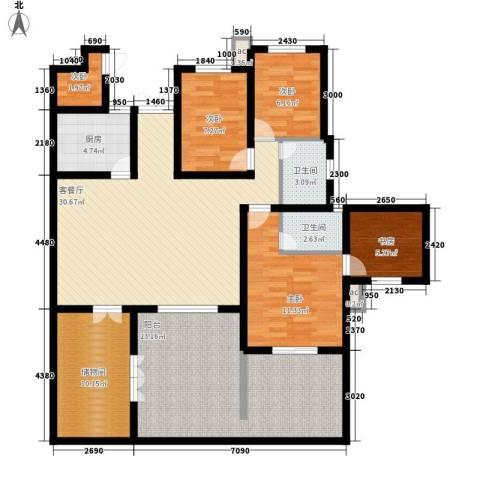 世纪城国际公馆一期5室1厅2卫1厨142.00㎡户型图