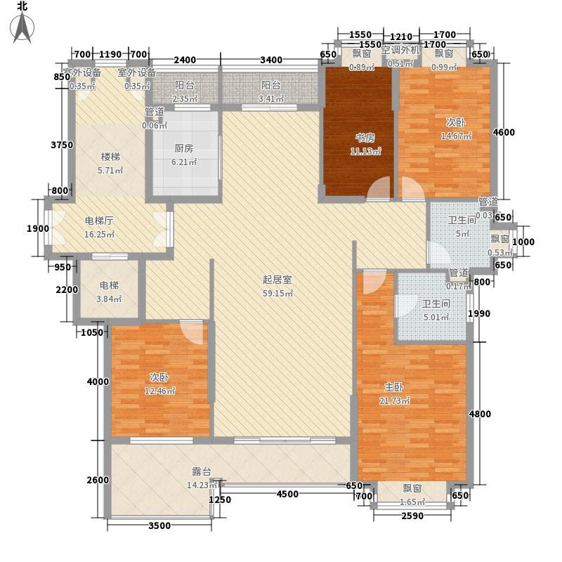 环球东方港城170.00㎡H3户型4室2厅