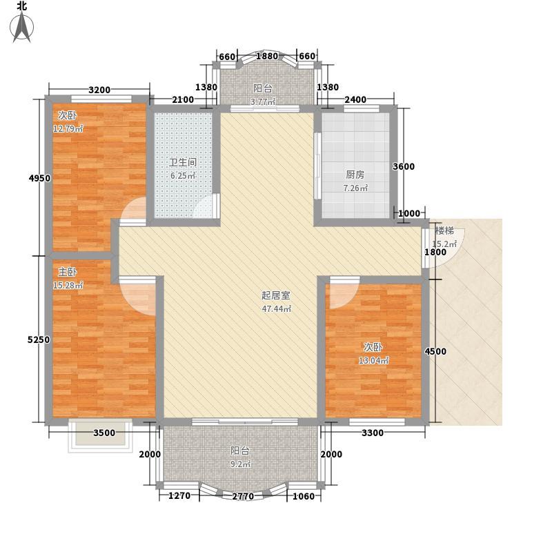 锦都城20085317196780_2户型3室2厅1卫1厨