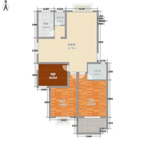新星小区3室0厅2卫1厨118.00㎡户型图