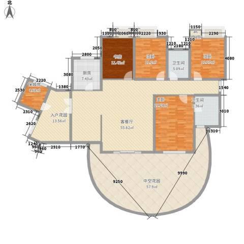 湘江豪庭4室1厅2卫1厨285.00㎡户型图