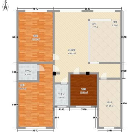鱼尾狮3室0厅2卫0厨223.00㎡户型图