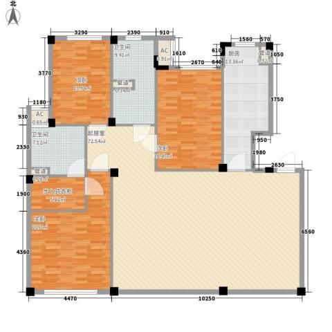鱼尾狮3室0厅2卫1厨222.00㎡户型图