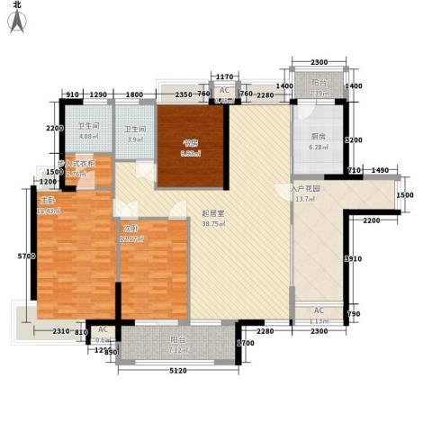 藏珑湖上国际社区别墅3室0厅2卫1厨172.00㎡户型图