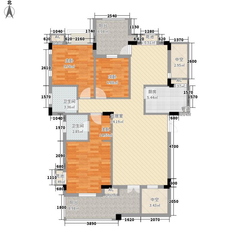 中铁・逸都国际115.00㎡B-3户型3室2厅2卫1厨
