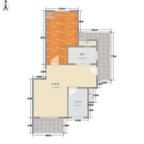 鱼尾狮1室0厅1卫1厨213.00㎡户型图
