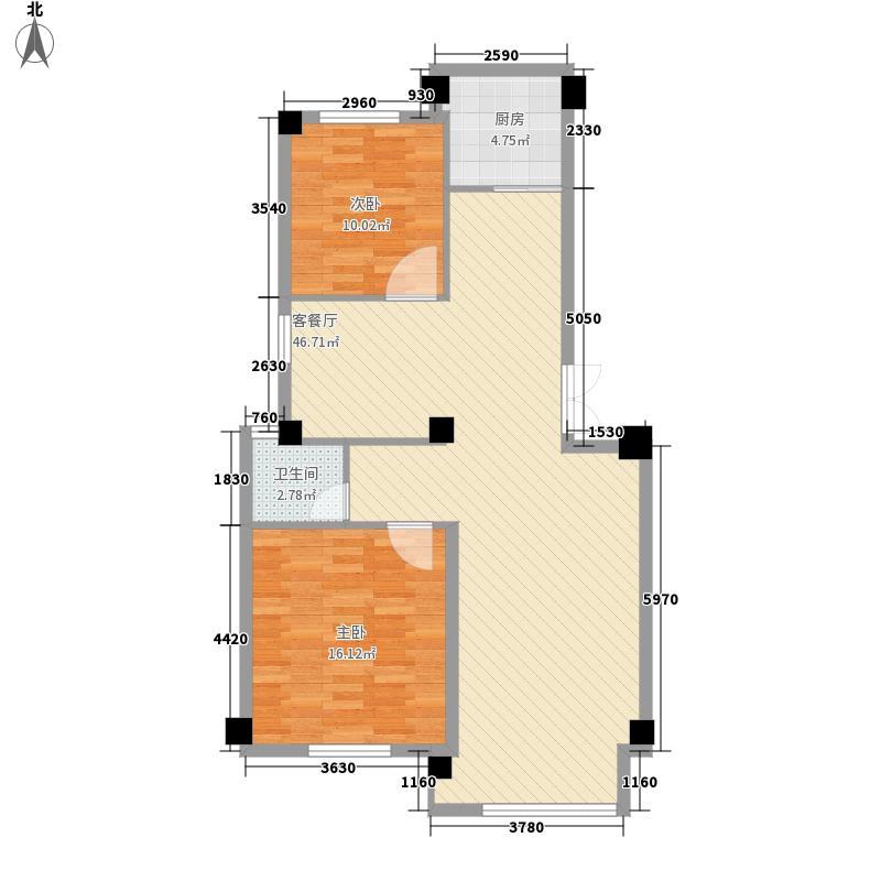 红光苑112.00㎡户型2室2厅1卫1厨