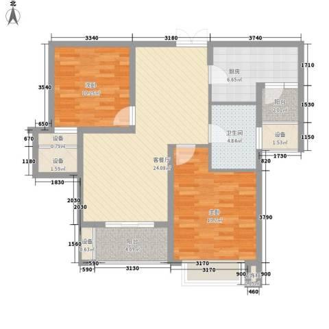 华润置地中央公园别墅2室1厅1卫1厨81.75㎡户型图