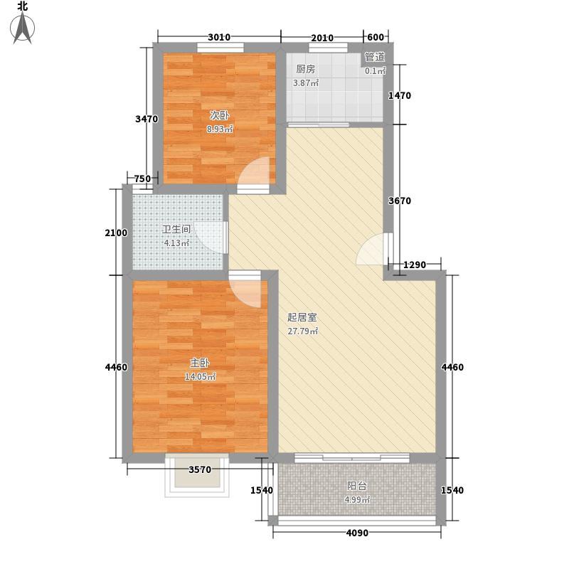 上海花园85.00㎡上海花园户型图A2室2厅1卫1厨户型2室2厅1卫1厨