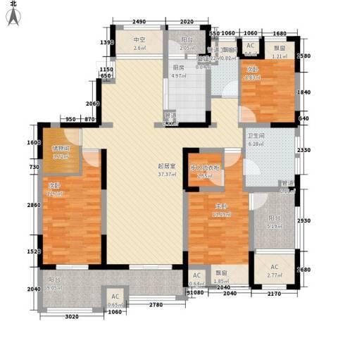 江城国际3室0厅2卫1厨168.00㎡户型图