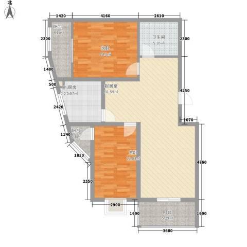 灞柳运谭新城2室0厅1卫1厨114.00㎡户型图