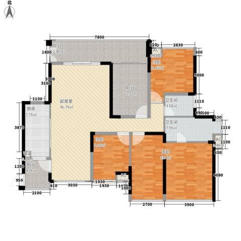 金地博登湖别墅3室0厅2卫1厨197.00㎡户型图