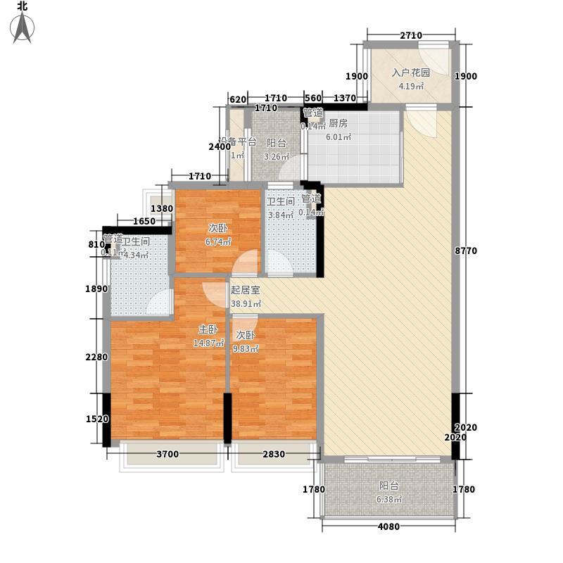 天美小岛119.00㎡10栋02单位户型3室2厅