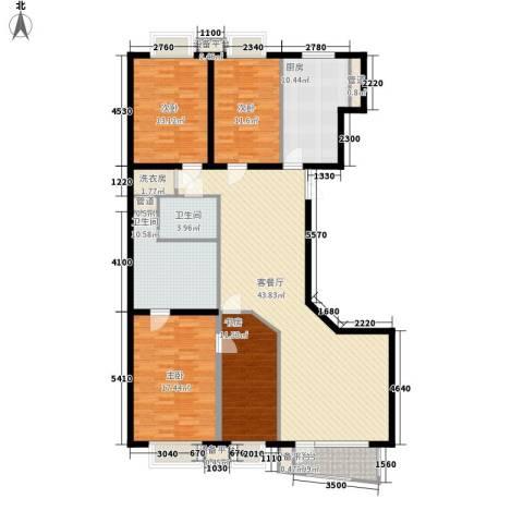 绿洲华庭苑4室1厅2卫1厨184.00㎡户型图