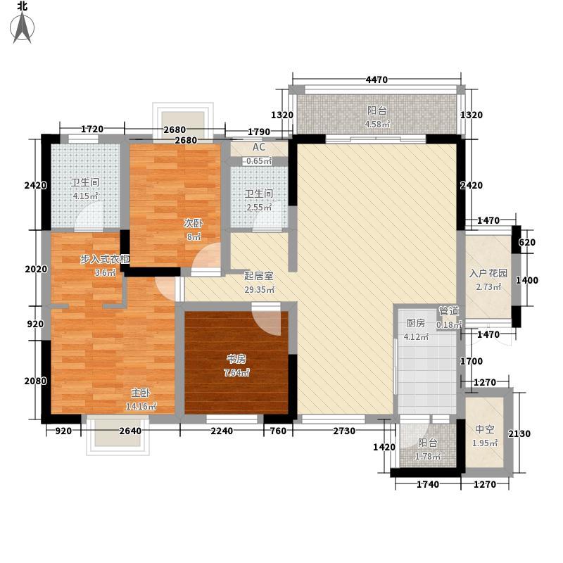 中铁・逸都国际121.99㎡45/46栋2号户型3室2厅2卫1厨