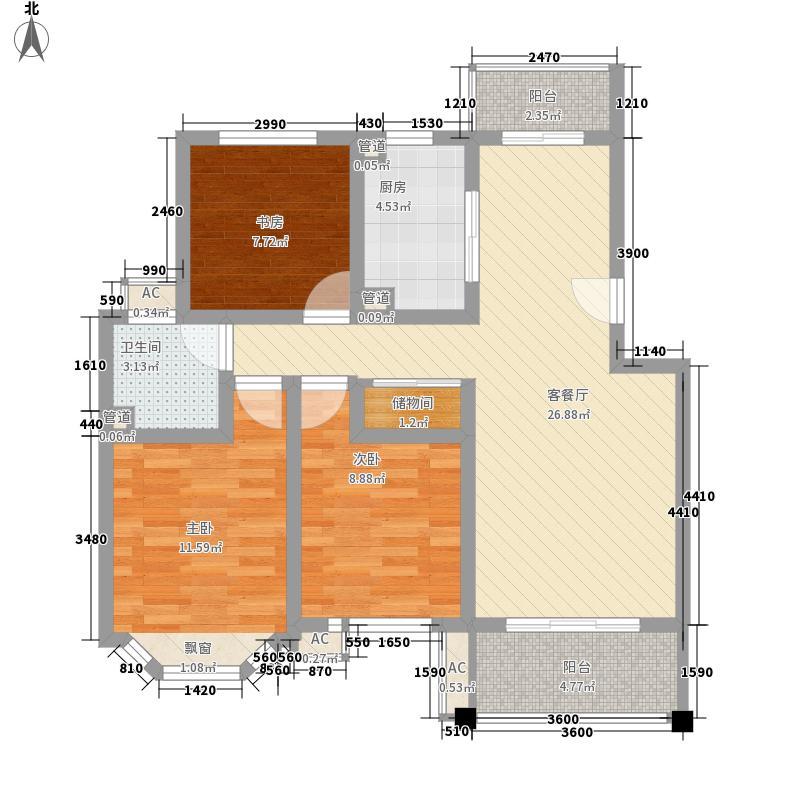 宝地绿洲城南区107.00㎡宝地绿洲城南区107.00㎡3室2厅1卫1厨户型3室2厅1卫1厨