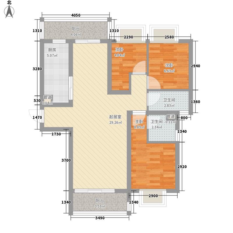 丽丰棕榈彩虹100.30㎡丽丰棕榈彩虹户型图洋房3幢1.2座3室2厅2卫1厨户型3室2厅2卫1厨