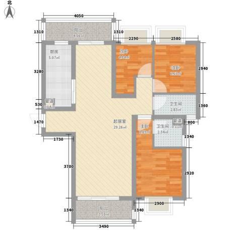 丽丰棕榈彩虹3室0厅2卫1厨100.00㎡户型图
