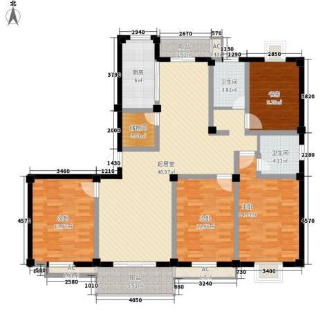 太湖明珠苑4室0厅2卫1厨174.00㎡户型图