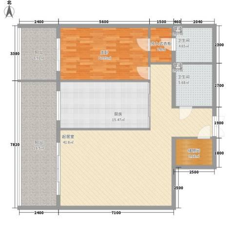 都市胜景1室0厅2卫1厨160.00㎡户型图