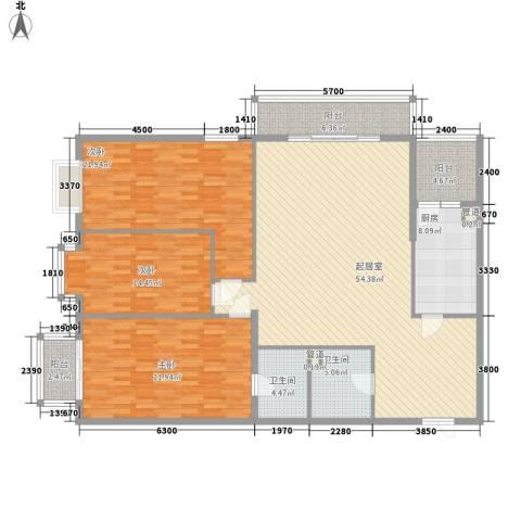 都市胜景3室0厅2卫1厨199.00㎡户型图