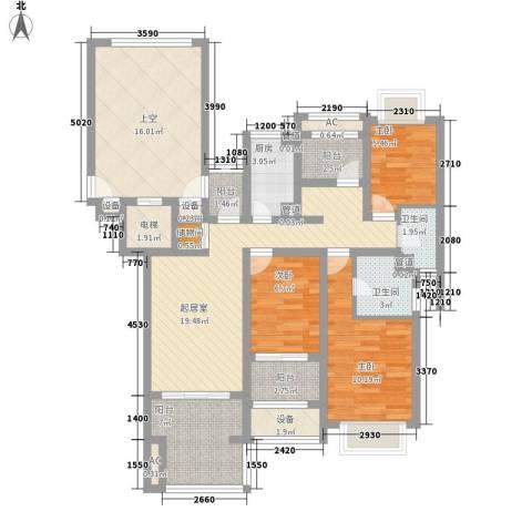 万科城3室0厅2卫1厨132.00㎡户型图