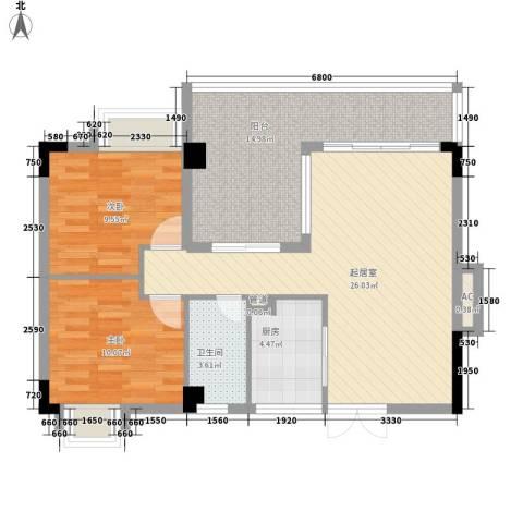 伍仙花园2室0厅1卫1厨99.00㎡户型图