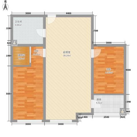 花样年华2室0厅1卫1厨103.00㎡户型图