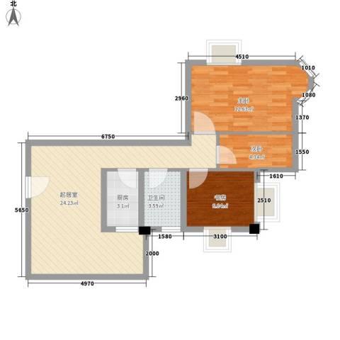 豪景花园3室0厅1卫1厨79.00㎡户型图