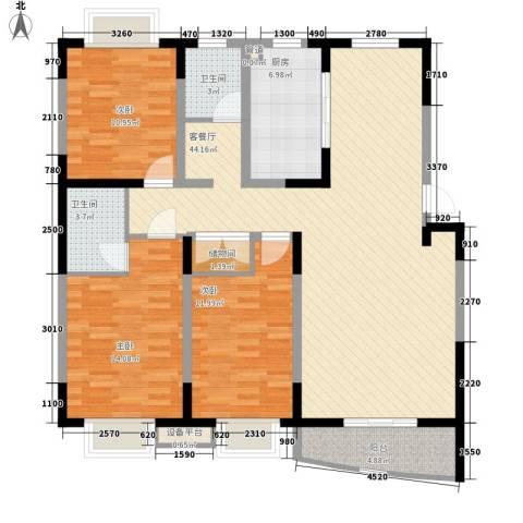公园20463室1厅2卫1厨133.00㎡户型图