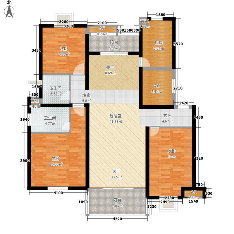 万科花园小城130.00㎡万科花园小城户型图GN4户型图3室2厅2卫1厨户型3室2厅2卫1厨
