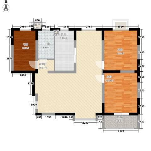 公园20463室1厅1卫1厨114.00㎡户型图