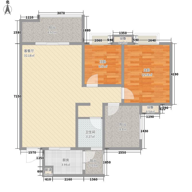 树高卡地亚85.00㎡树高卡地亚户型图G32室2厅1卫1厨户型2室2厅1卫1厨