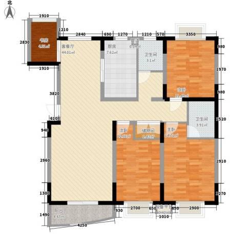 公园20464室1厅2卫1厨144.00㎡户型图
