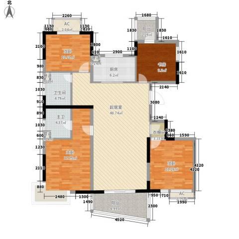 亚东观云国际公寓4室0厅1卫1厨139.00㎡户型图
