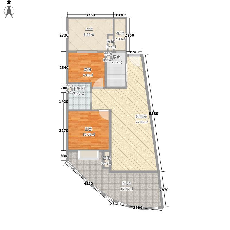 白金海岸80.80㎡白金海岸户型图奇数层西2套A户型2室2厅1卫1厨户型2室2厅1卫1厨
