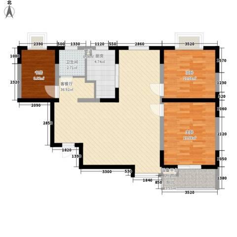 公园20463室1厅1卫1厨101.00㎡户型图